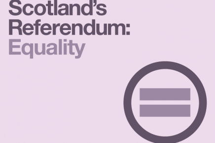 Scotland's Referendum: Equality
