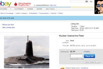 Trident Nuclear Submarine Fleet For Sale