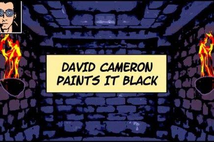 David Cameron Paints It Black
