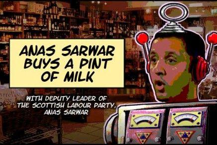Anas Sarwar Buys A Pint Of Milk