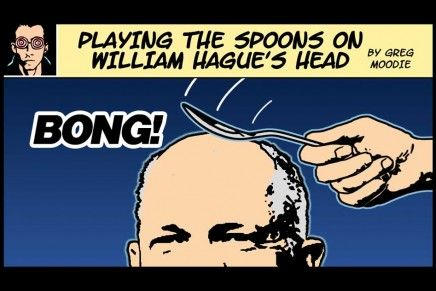 Playing The Spoons On William Hague's Head